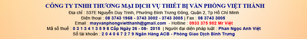 Cty Việt Thành - Cung cấp máy photocopy canon, máy photocopy ricoh, máy photocopy toshiba, may photocopy sharp, may photocopy xerox, sua chua may photocopy, thay the phu tung linh kien may photocopy.